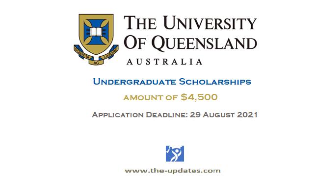 David Dunlop Memorial Undergraduate Scholarship at UOQ Australia 2021-2022
