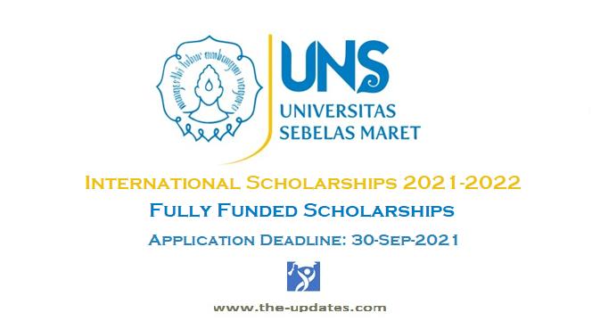 UNS International Awards at Sebelas Maret University Indonesia 2021-2022