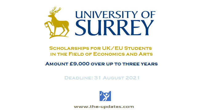 The O'Neill-Brard Scholarship at University of Surrey UK 2021-2022
