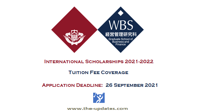 International Scholarship at Waseda Business School Japan 2021-2022