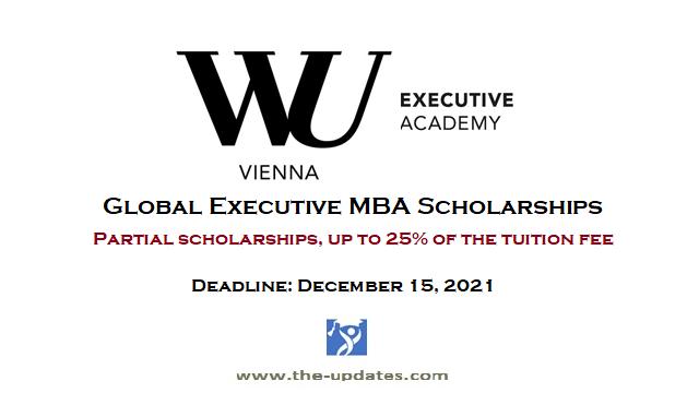 Global Executive MBA Scholarships 2022-2023