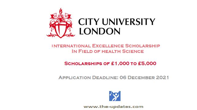 SHS International Excellence Scholarship at City University of London UK 2021-2022