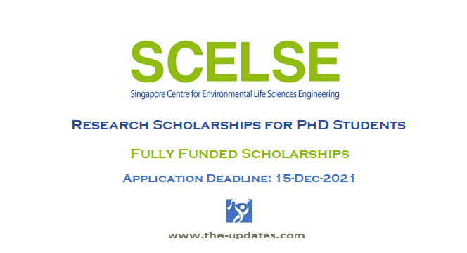 SCELSE PhD research scholarships singapore