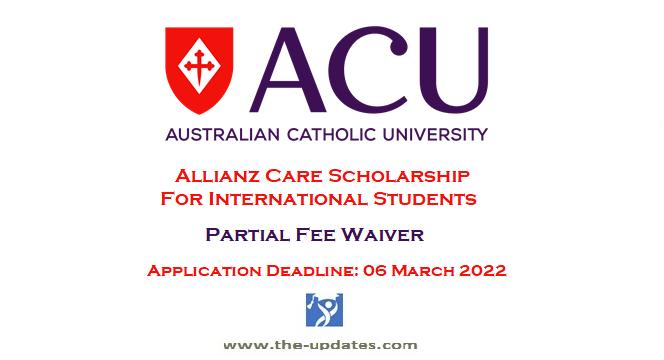 Allianz Care Scholarship at Australian Catholic University 2022-2023