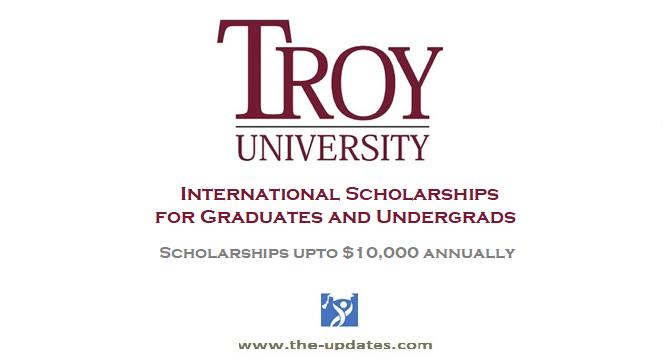 Scholarships for International Students at Troy University USA 2022