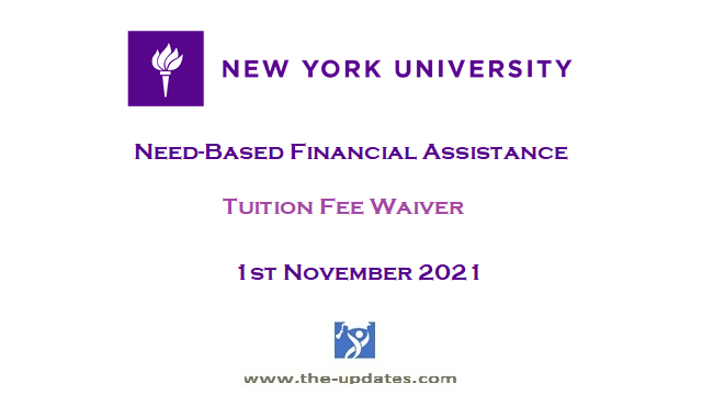 Need-Based Financial Scholarships at New York University USA