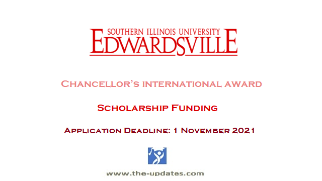 Chancellor's international award at Southern Illinois University USA 2022-23