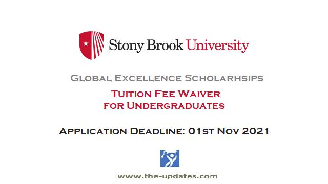 Global Excellence Scholarships at Stony Brook University NY USA