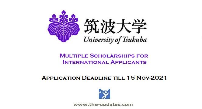 International Scholarships at University of Tsukuba Tokyo Japan