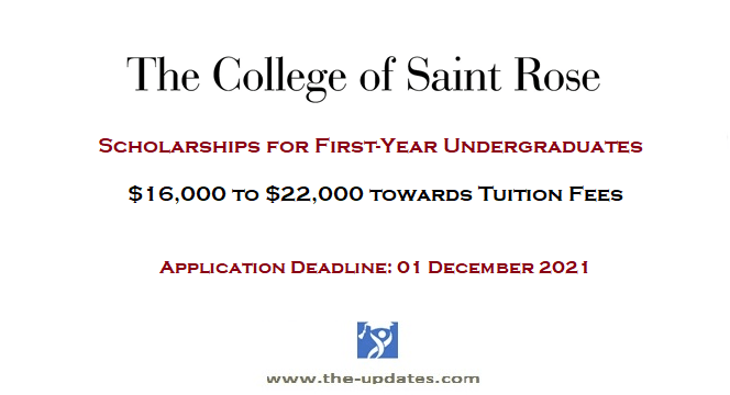 Scholarships for First-Year Undergraduate Students at the College of Saint Rose