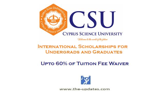 International Scholarship at Cyprus Science University Turkey