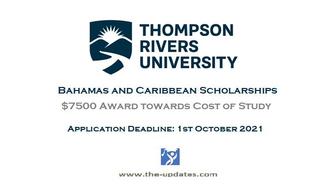 Bahamas and Caribbean Scholarships at Thompson Rivers University Canada