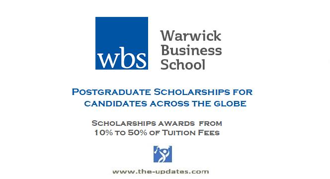 Postgraduate Scholarships at Warwick Business School UK