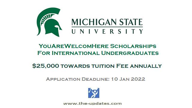 #Youarewelcomehere Scholarship at Michigan State University 2022-2023