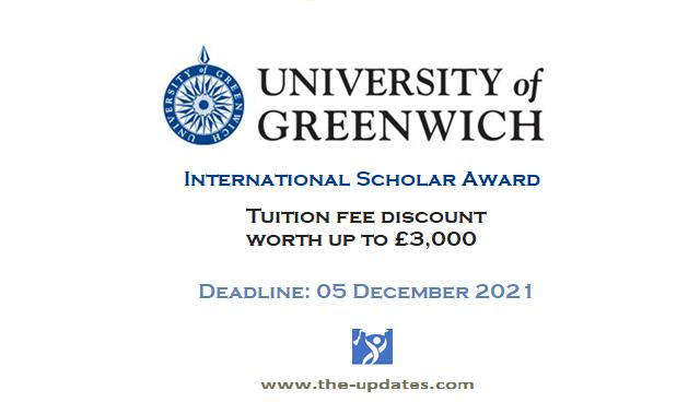 International Scholarships Award at University of Greenwich 2022-2023