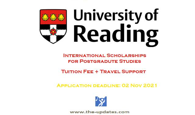 Chevening International Scholarship at University of Reading UK