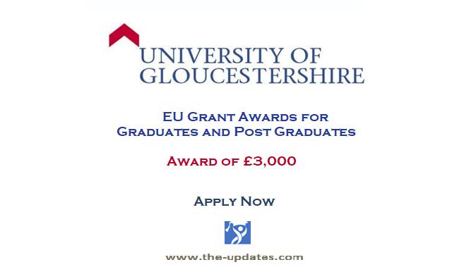 EU Grant Award at The University of Gloucestershire UK